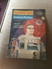 Fantasy And Science Fiction Book Magazine October 1966 The Key By Isaac Asimov