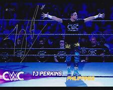 TJ Perkins TJP Autographed WWE 8x10 Cruiserweight CWC Wrestling Photo Champ 3