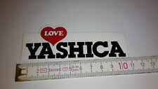 Alter Aufkleber LOVE YASCHICA FOTOKAMERAS
