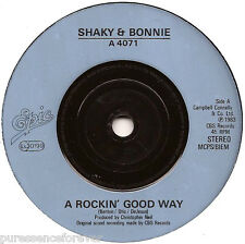 "SHAKIN' STEVENS & BONNIE TYLER - A Rockin' Good Way (UK 2 Tk 1983 7"" Single)"