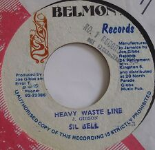 SIL BELL ~ HEAVY WASTE LINE reggae SKA 45 on BELMONT ~ HEAR IT
