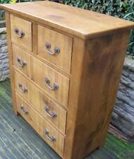 NEW SOLID WOODEN CHUNKY RUSTIC PLANK PINE CHEST OF DRAWERS SIDEBOARD BASE UNIT