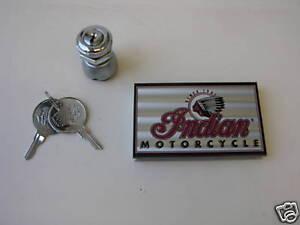 INDIAN MOTORCYCLE IGNITION SWITCH SET & KEYS + CASE + STICKER