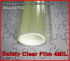 Wide:76cm/4MIL/Safety Clear Film/Window/Tint/Security/Solar/Long/Roll/Choice Siz