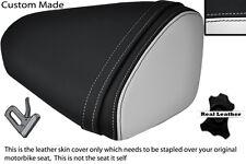 BLACK & WHITE CUSTOM FITS KAWASAKI 08-10 ZX10 R NINJA 1000 REAR SEAT COVER