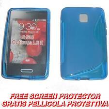 Pellicola+Custodia cover WAVE BLU per LG Optimus L3 II E430 (H9)