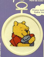 Winnie the Pooh & honey pot - Janlynn Cross-stitch kit - with frame