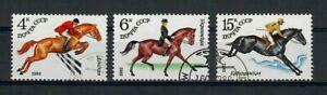 SAN21 Russia 1982 Fauna Animals Horses Sports, Set of 3, SG 5203-05, used/CTO