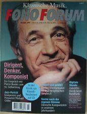 Fono Forum 3/95 P. Boulez, Dänische Komponisten, M. Gibbs, Bachs Flötensonaten