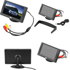 "4.3"" LCD TFT Car RearView Headrest Color Monitor For Car Reversing Camera GPS TN"