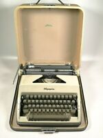 Vintage Olympia SM9 DeLuxe Manual Typewriter with original travel hard case