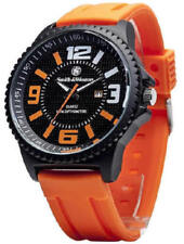 Smith & Wesson Oange/Black EGO watch with Silicon Band in Gift Box-FREE SHIPPING