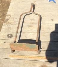 Vintage Snyder Green Metal Dolly, Hand Cart, Industrial, Two Wheel Dolly