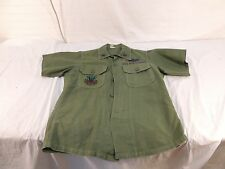 AIR FORCE LTC 1967 Vietnam Shirt Cotton Sateen OG 107 ORIG COMBAT PATCHES USAF