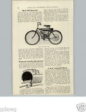 1905 PAPER AD Article 1906 Mayo Damper Co Motorcycle Motor Cycle Pottstown 2 HP