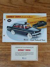 Fascicule livret OPEL Rekord Taxi Ref 546 Dinky Toys ATLAS