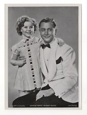 Shirley Temple Robert Young 1937 Union Dresden Series 7 5X7 Cigarette Photo Card