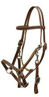 MEDIUM OIL Leather Horse Halter Bridle Combination with Reins! NEW HORSE TACK!