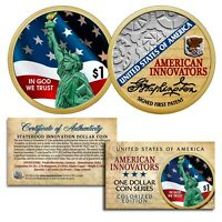 American Innovation State $1 Dollar Coin 2018 1st Release - 2-Sided COLORIZED