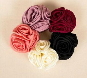 Fashion Womens Girls Rose Flower Bow Hair Clip