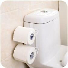 Metal Over The Tank Cistern Hanging Double Dual Toilet Roll Paper Tissue Holder
