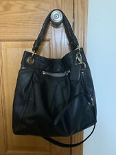 COACH Large Black Leather PARKER HIPPIE Shoulder Tote Bag #13411