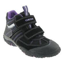 Scarpe Geox nere con chiusura a strappo per bambine dai 2 ai 16 anni