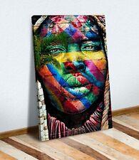CANVAS WALL ART PRINT GRAFFITI ARTWORK BEAUTIFUL BLACK WOMAN MULTI COLOUR