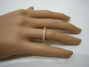 14K Yellow Gold And Cubic Zirconia Size 7 Band 2.2 Grams 14KT