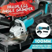 For 18V Makita Battery 100mm Li-ion Brushless Cordless Angle Grinder Grinding