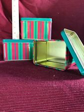 3�x4� Christmas Mini Tins New Lot Of 4 Perfect For A Small Gift