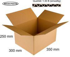20 Faltkartons 350x300x250mm B-410g/m2  Versandkarton Falt Kartons [ braun ]