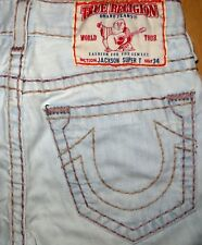 ORIGINAL TRUE RELIGION USED-JEANS JACKSON SUPER T SLIM STRAIGHT-CUT W 31/34 GENO