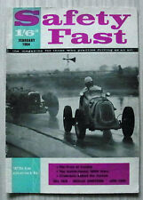 BMC SAFETY FAST Magazine Feb 1964 MG NEWS Austin Healey 3000 K3 MAGNETTE