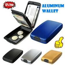 Aluminium RFID Scan Protected Hard Case Security Wallet Bank Credit Card Holders