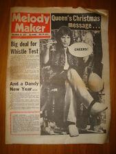 MELODY MAKER 1974 DEC 28 QUEEN BLACK OAK ARKANSAS