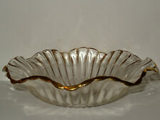 Crystal Salad Bowl With Gold Trim