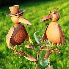 Regenmesser Vogelduo mit Hut