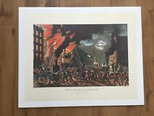 """1972 Vintage Currier /& Ives YACHTING /""""CLIPPER YACHT AMERICA NY/"""" COLOR Lithograph"""