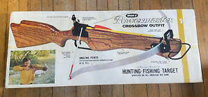 NEW 1971 Vintage WHAM- O Powermaster Crossbow Outfit Hunting Fishing Target RARE