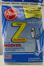 Hoover Z Type Vacuum Cleaner Bags Allergen Filtration 3 Pack Upright