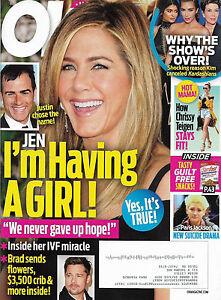 OK! Magazine October 3 2016 Jennifer Aniston Paris Jackson Renee Zellweger