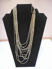 """NWT Beautiful Pier 1 Imports Elegant Necklace Chain Gold Beaded 26""""  RETAILS $30"""