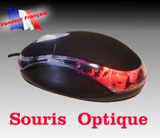 SOURIS OPTIQUE FILAIRE  USB 800 DPI MOLETTE LED LUMINEUSE pc mac