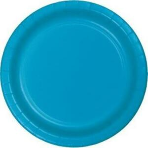 """Turquoise 10"""" Paper Plates 24 Per Pack Tableware Decorations Party Supplies"""