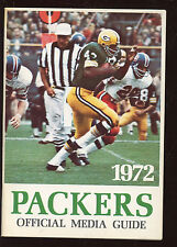 1972 NFL Football Green Bay Packers Press Book / Media Guide NRMT