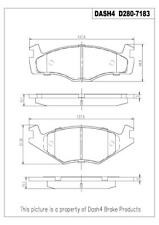 Disc Brake Pad Set-SEMI METALLIC PADS Front Dash 4 Brake MD280