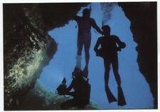 Vieja postal-Cova del dofi a las islas medas