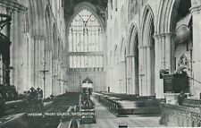 """""""Hundred Year old postcard from collection"""" Bridlington,Interior,Priory Church"""