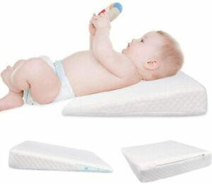 BABY WEDGE PILLOW SQUARE ANTI REFLUX COLIC COUSION FOR PRAM COT CRIB BED FLAT